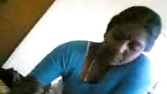 Southindian Aunty handjob and Blowjob to her Partner's Cock