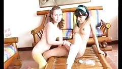 Marcela rubita with girlfriend Lorena girl-on-girl