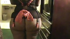 Bubble Butt Black Ass- Hot Milf Ebony- Thong