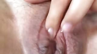 Blonde Wife w Meaty Dark Labia Silent Orgasm 1:45