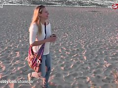 My Dirty Hobby - Hot public blowjob on the beach