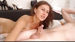 Hot Babe Gives her Boyfriend a Hot Blowjob