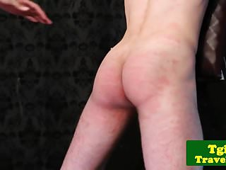 Preview 5 of Domina trap whipping after getting blown