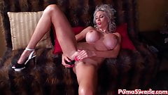Euro Blonde Puma Swede Gets off with Bejeweled Dildo!'s Thumb