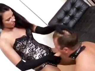 Young mistress uses sub daddy