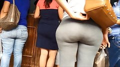 big ass grey spandex