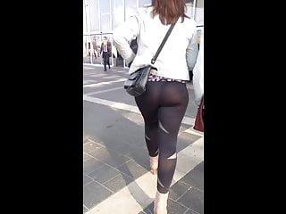 Russian in Black See Through Leggings