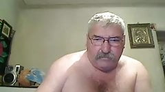 Grandpa on webcam