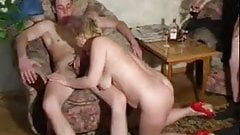 Russian mature slut Lana fucked again and again