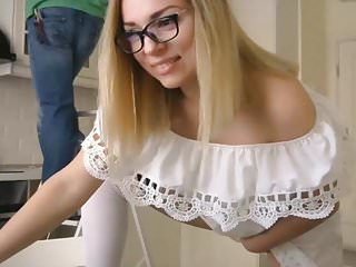 MILF Teasing on Cam While Handy Man is Working