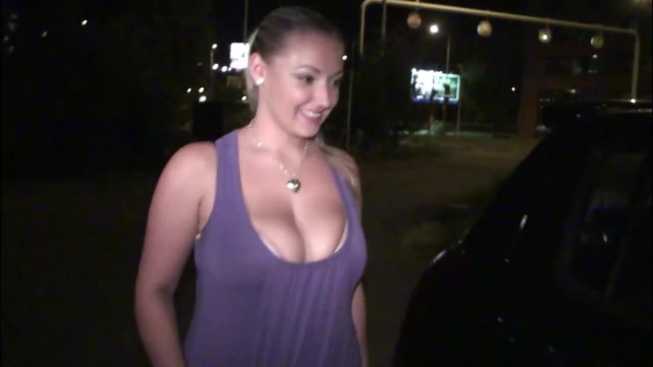 Insane PUBLIC street sex orgy with big tits Krystal Swift