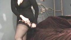 Curvy American GF in FF stockings and suspenders 2