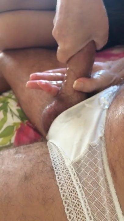Pussy panties hand job enema