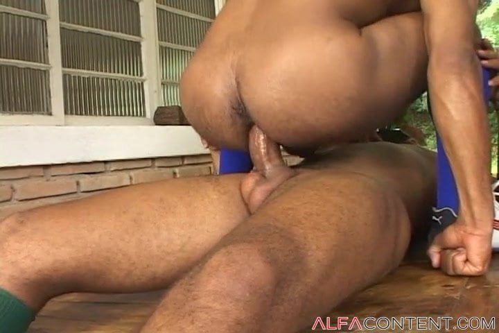 Two Huge Dudes Fuck Bareback