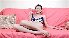 Hairy Asian girl