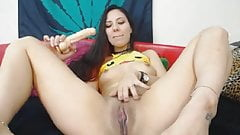 Sexy Latina Babe Fingers Her Hairy Pussy