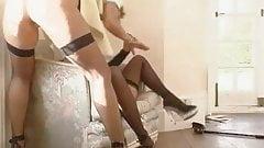 Two lesbian sluts in latex