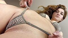 Skye Blue & Vika model Wicked Weasel bikinis & strip nude