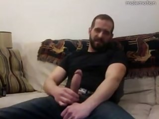 Verbal Bearded Daddy Jerks Off for You