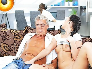 Daddyk Middle Aged Man Has Fun With Son S Unsatisfied Girl