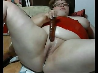Nympho Fat BBW Teen Ex GF creaming her ass and wet pussy-1