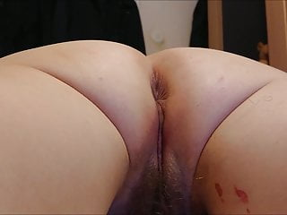 preparing my pussy for anal defloration - anal entjungferung