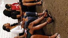 candid ebony sexy legs and feet