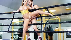 TeamSkeet - Hot Busty Brunette Fucks Trainer After Sparring