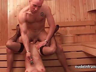 Horny amateur blonde hard sodomized in a sauna