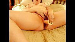 Chubby Wife Fucks Her Pussy With A Dildo