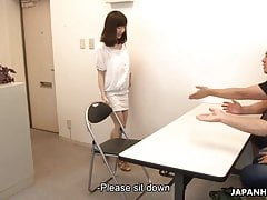 Married Asian babe getting toy fucked by the boys