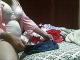 nylon nightgown rubbing