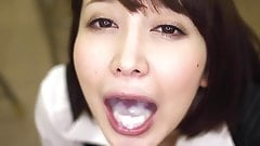Asian Cutie Swallows ALOT