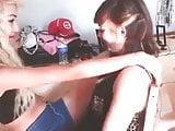 my slutty cousin grinding on her friend