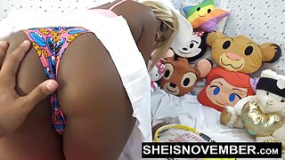 Daughter Rough Sex For Big Ass Ebony Babe Hardcore Cumshot