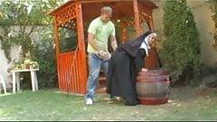 A nun enjoy it