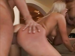 very hot blonde gets great anal and facials by 2 lucky dudes