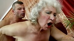 Grandma Norma sucks and fucks her granddaughter's fiance