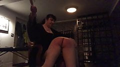 Mistress Brigitte & Miss Jenn Dish Out a Paddling