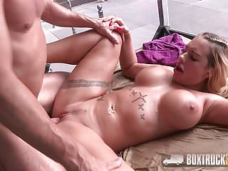 Amazing Kyra Hot gets a Load on her Tits in Budapest