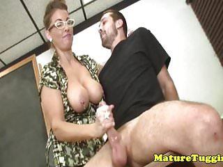 Bigtitted milf teacher Stacie Starr tugging