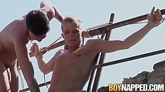 Slave Chris Jansen gets doggy styled by master Charley Cole