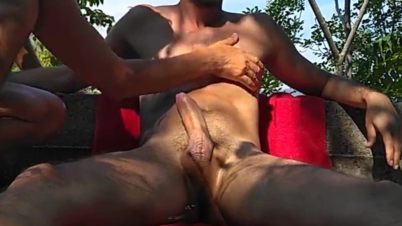 Getting my cock stroked by nudist