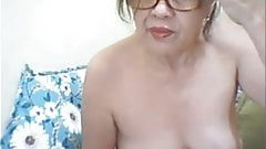 59yo granny plays with dildo