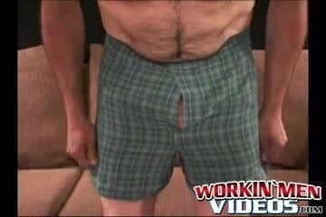 Hairiest mature stud cums laborious after solo masturbation