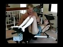 SB2 Hot Little Daughter Works Out With Daddy !