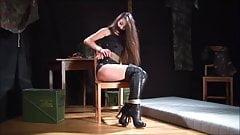 Spy girl tied up