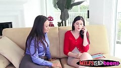Claudia helps Miranda with her guy pleasing his hard dick