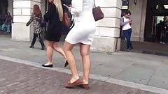 Candid Walk 22 - White Summer Dress