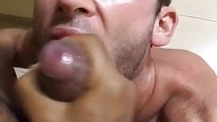 Another load from an uncut latin cock